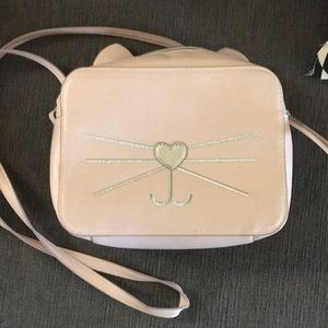 khols Accessories - Cute pink cat , crossbody, faux leather